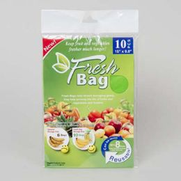 96 Units of Green Fresh Bag 10pk 15x9.8in/12pc Merchstrip Oppbag Insert/pbsleeve - Plastic Bowls and Plates