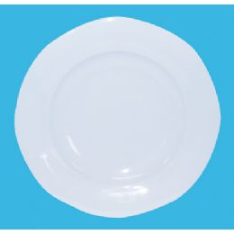 60 Units of 8 Inch Melamine Scalloped Plate - Plastic Bowls and Plates