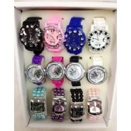 80 Units of Wholesale Bulk Lot Watches Silicone Fashion Watches - Women's Watches