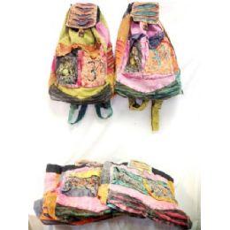 50 Units of Wholesale Nepal Tie Dye Fabric Backpacks Assorted 50 Pcs - Backpacks