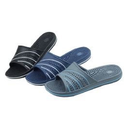 48 Units of Men's Shower And Massage Slippers - Men's Flip Flops and Sandals