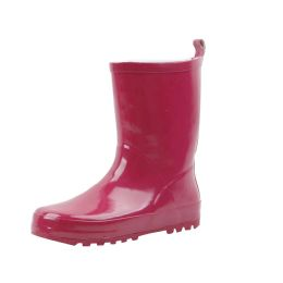 18 Units of Kid's Rubber Rain Boots Fuchsia - Girls Boots