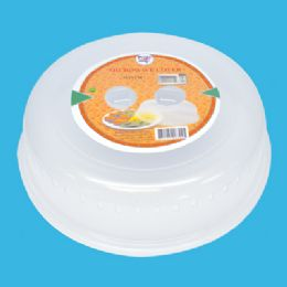 48 Units of 10 INCH CLEAR MICROWAVE COVER - Microwave Items