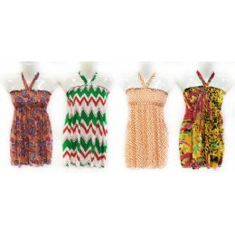 12 Units of Girls Summer Sun Dress Tube Style with Neck Strap - Girls Dresses and Romper Sets