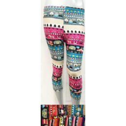 12 Units of Three Quarter Length Leggings In Assorted Colors - Womens Leggings