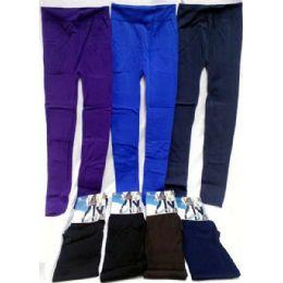 24 Units of Women's Leggings In Assorted Solid Colors - Womens Leggings