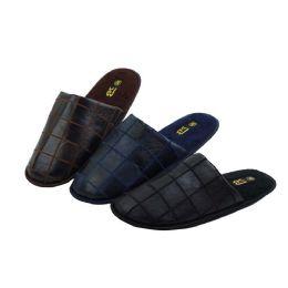 36 Units of Men's Indoor Slippers Assorted Colors - Men's Slippers