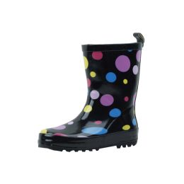 18 Units of Kid's MultI-Color Polka Dots Rubber Rain Boots - Girls Boots