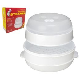 12 Units of 2 Tier Microwave Steamer With Steam Vent - Microwave Items