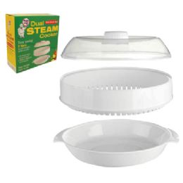 12 Units of Dual Layer 2 Tier Steam Cooker - Plastic Bowls and Plates