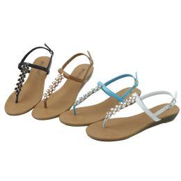 36 Units of Ladies' Fashion Sandals Assorted Colors Size 5-10 - Women's Flip Flops