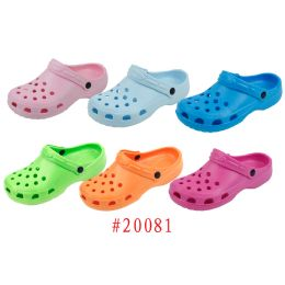 48 Units of Ladies' Garden Shoes Fuchsia, Aqua Blue, Green, Orange, Pink, Lt. Blue - Women's Aqua Socks