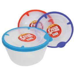 48 Units of 54 Oz Food Container With Rubber Rim Lids - Food Storage Containers