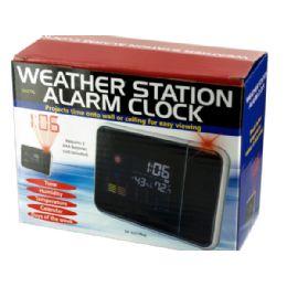 6 Units of Weather Station Digital Alarm Clock - Wall Decor
