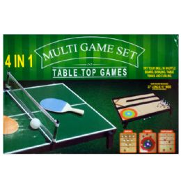 3 Units of 4 In 1 Tabletop MultI-Game Set - Toy Sets