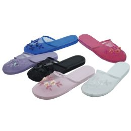 96 Units of Ladies' Chinese Slippers Assorted Colors