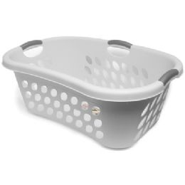 6 Units of Sterilite Plastic Laundry Basket - Laundry  Supplies