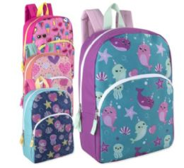 """24 Units of 15 Inch Character Backpacks - Girls Assortment - Backpacks 15"""" or Less"""