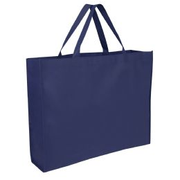 100 Units of 19 Inch Shopper Non Woven Tote Bag - Navy Colors - Tote Bags & Slings