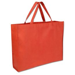 100 Units of 19 Inch Shopper Non Woven Tote Bag - Red Color ONly - Tote Bags & Slings