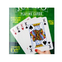 12 Units of Jumbo Novelty Playing Cards - Playing Cards, Dice & Poker