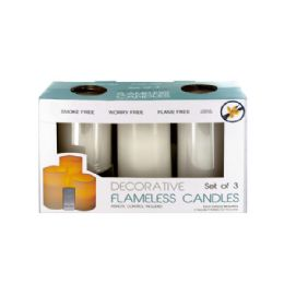6 Units of Flameless Vanilla Candles With Remote Control - Candles & Accessories