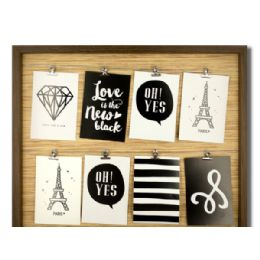 6 Units of Brown Wire Lines Photo Frame - Picture Frames