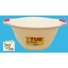 24 Units of Tub With Handles - Buckets & Basins