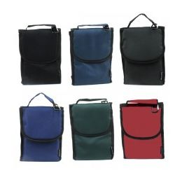 24 Units of Insulated Lunch Bag Assortment In Solid Color Prints - Lunch Bags & Accessories