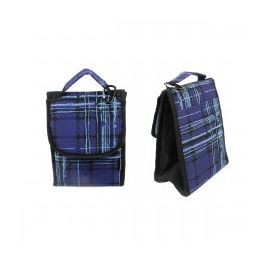 """24 Units of 10"""" Insulated Lunch Bag In A Blue Plaid Print - Lunch Bags & Accessories"""