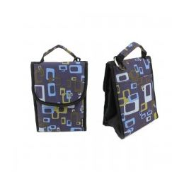 24 Units of Insulated Lunch Bag In A Geometric Unisex Print - Lunch Bags & Accessories
