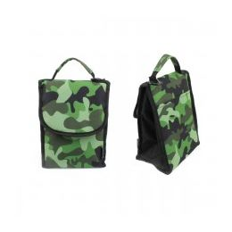 """24 Units of 10"""" Insulated Lunch Bag In A Green Camouflage Print - Lunch Bags & Accessories"""