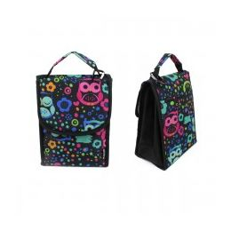 """24 Units of 10"""" Insulated Lunch Bag In A Multi Color Owl Print - Lunch Bags & Accessories"""