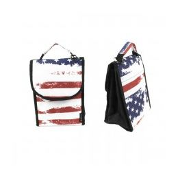 """24 Units of 10"""" Insulated Lunch Bag In A Usa Flag Unisex Print - Lunch Bags & Accessories"""