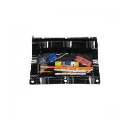 48 Units of Pencil Case In A Black Plaid Print - Pencil Boxes & Pouches