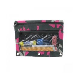 48 Units of Pencil Case In a Pink Camouflage Print