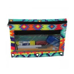48 Units of Pencil Case In an Aztec Print