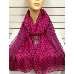 36 Units of Polka Dot Scarf (pink) - Womens Fashion Scarves