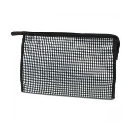 60 Units of Large Cosmetic Make Up Bag in Houndstooth - Cosmetic Cases