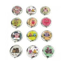 120 Units of MIRROR-OWL: Circular Cosmetic Mirror - Cosmetics