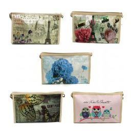 60 Units of Cosmetic Make Up Bag In Pretty Prints - Cosmetic Cases