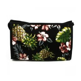 60 Units of Cosmetic Make Up Bag In A Trendy Pineapple Print - Cosmetic Cases