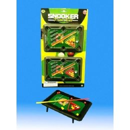36 Units of 2 Pieces Mini Pool Table In Blister Card - Toy Sets