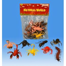 48 Units of 8 Pieces Insects In Pvc Bag Header Card 2 Assorted - Animals & Reptiles