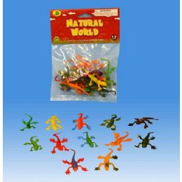 144 Units of 12 Pieces Lizards In Poly Bag Header Card - Animals & Reptiles