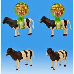 36 Units of 8 Cow With Ic Tie On Card - Animals & Reptiles