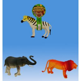 36 Units of Wild Animal With Ic Tie On Card 3assorted. - Animals & Reptiles