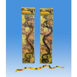 72 Units of Snake On Opp Bag Header Card - Animals & Reptiles
