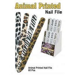 60 Units of NAIL ANIMAL PRINTED NAIL FILE - Cosmetics