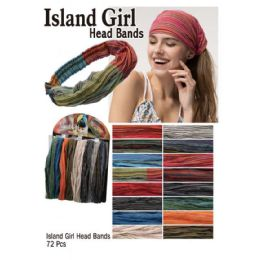 72 Units of Island Girl Head Bands - Head Wraps